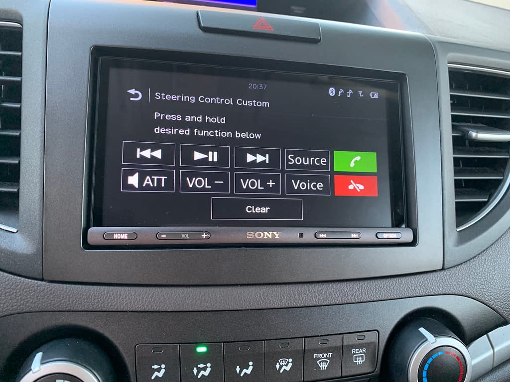 Install Sony XAV-AX5000 for 2013 Honda CR-V EX-L (No Navigation version)插图17