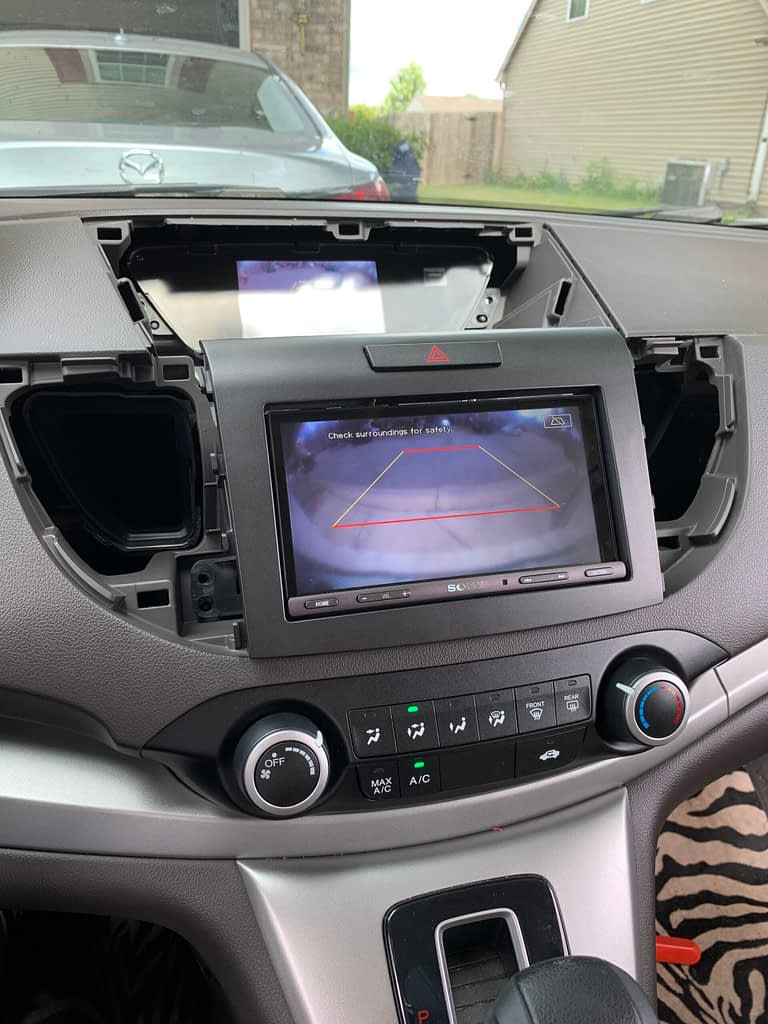 Install Sony XAV-AX5000 for 2013 Honda CR-V EX-L (No Navigation version)插图28
